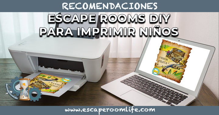 Portada Escape Rooms para Imprimir para Niños