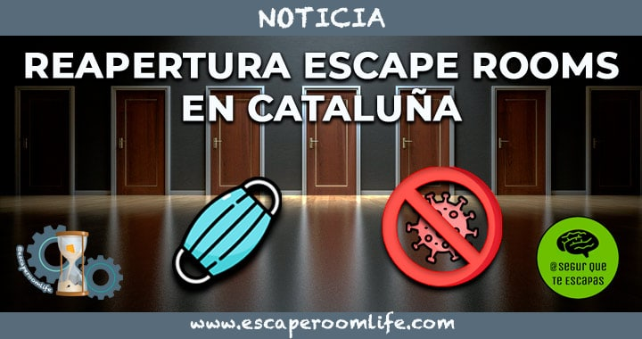 Portada Reapertura Escape Room en Cataluña